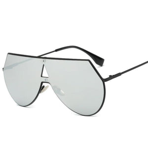 Rimless Geometric High Fashion Striking Aviator Sunglasses - Mix Colors