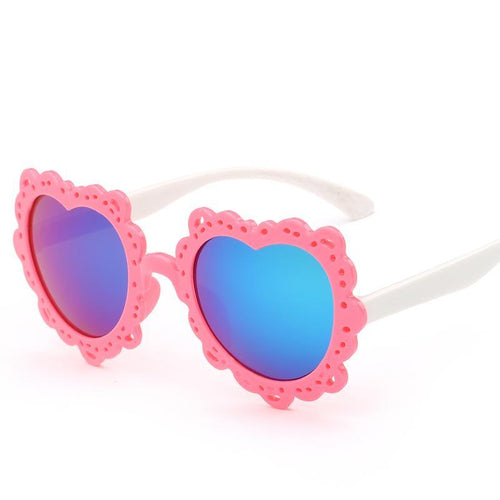 Love Heart Shaped Kids Sunglasses - Mix Colors