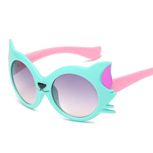 Outdoor Cat Shape Kids Sunglasses - Mix Colors
