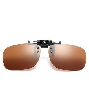 Lenses Glasses Unbreakable Metal Clip Sunglasses - Mix Colors