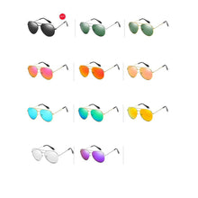 Load image into Gallery viewer, Men's Pilot Mirrored Celebrity Sunglasses Metal Frame - Mix Colors