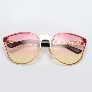 Rimless Cat Eye Sunglasses - Mix Colors