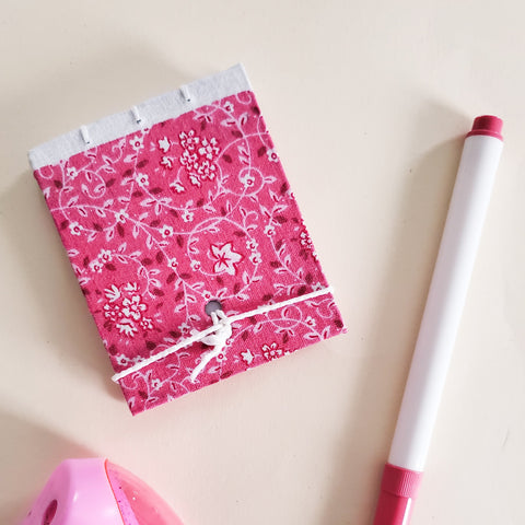 Mini Pink & White Notebook