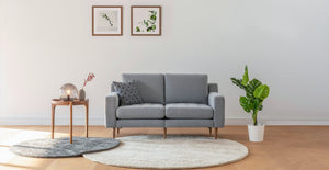 Grey Modular Loveseat