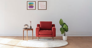 Red Modular Armchair