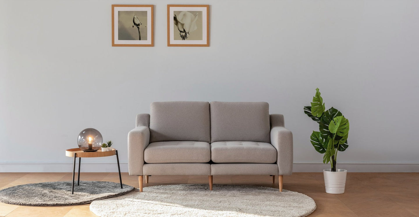 Beige Loveseat