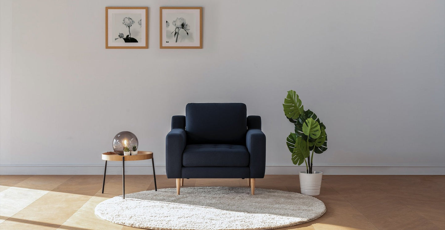 Navy Blue Modular Armchair