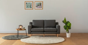 Hard Coal Modular Loveseat