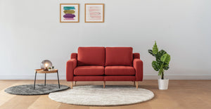 Red Modular Loveseat