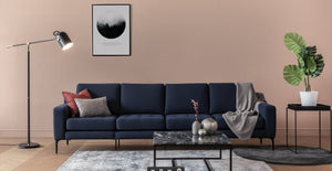 Navy Blue Modular King Sofa