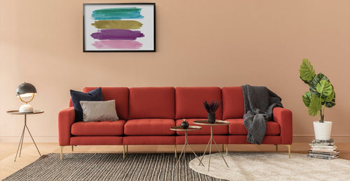 Red King Modular Sofa