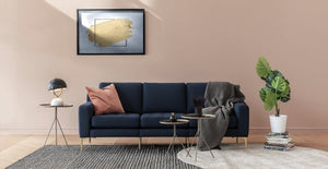 Navy Blue Modular Sofa