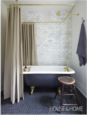 Classic look bathrooms with bathtub and accessories