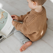Load image into Gallery viewer, Chunky Cotton Sweater in Toffee