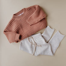 Load image into Gallery viewer, Chunky Cotton Sweater in Terracotta