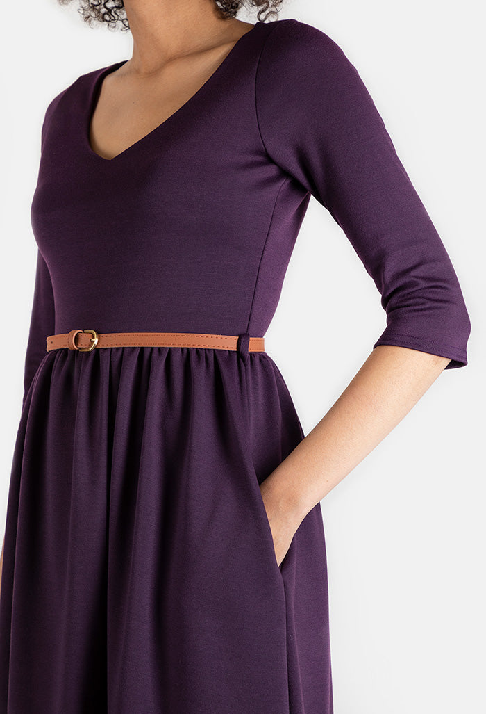 Lorna Purple Dress