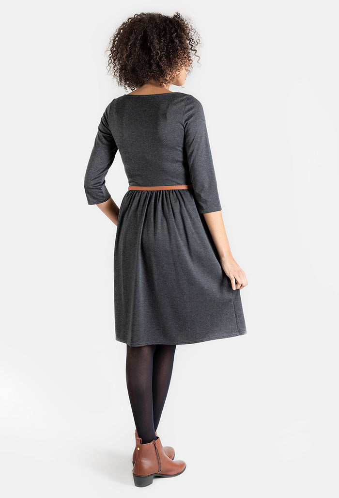 Lorna Charcoal Grey Dress