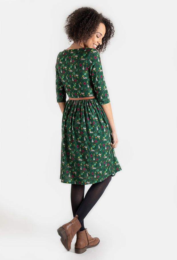 Rebecca Woodland Rabbit Print Dress