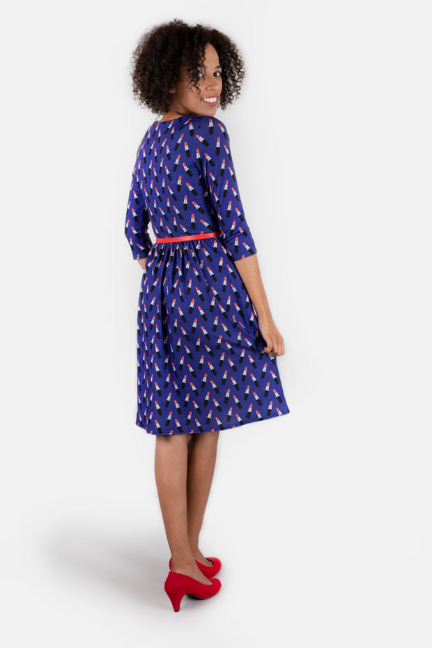 Lexy Lipstick Print Dress