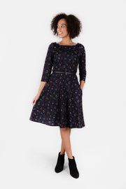 Hazel Horseshoe Print Dress
