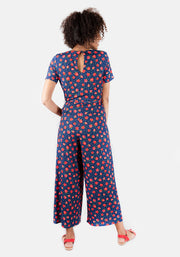 Shannon Strawberry Print Culotte Jumpsuit