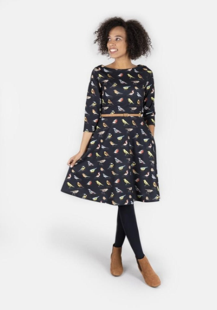 Brooke Bird Print Dress