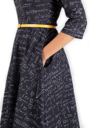 Jemma Equations Print Dress
