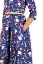 Betsy Floral & Butterfly Print Dress