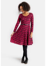 Catrina Cat Print Dress