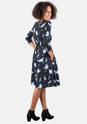 Stephanie Stork & Heron Print Dress