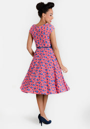 Martha Vintage Red Spot Dress