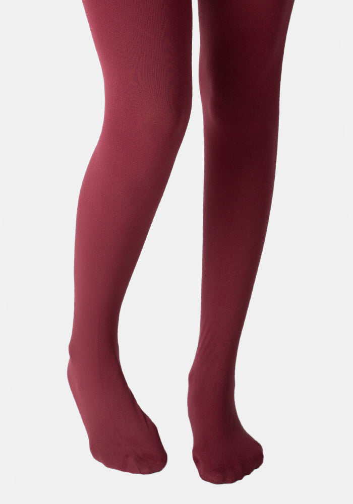 Premium 80 Denier Tights Burgundy