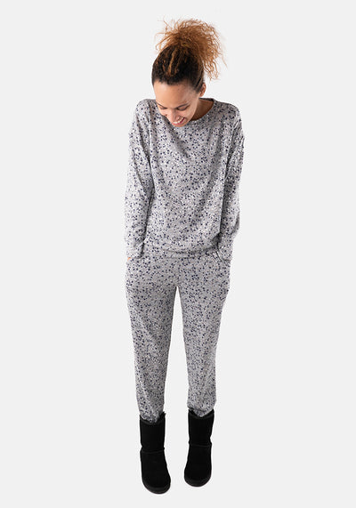 Aurora Grey Star Print Loungewear Set