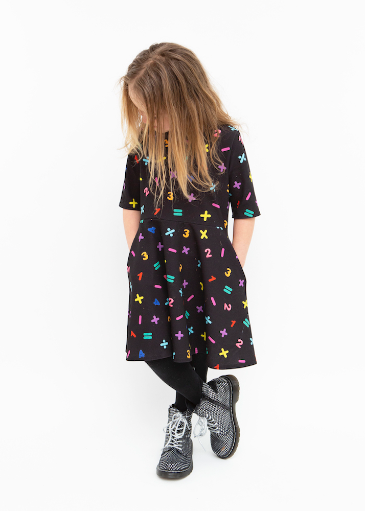 Maya Children's Maths Print Dress