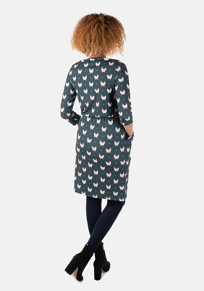 Betty Speckled Chicken Print Dress