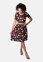 Josie Jigsaw Print Dress