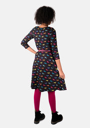 Bertie Multi Colour Sausage Dog Print Dress