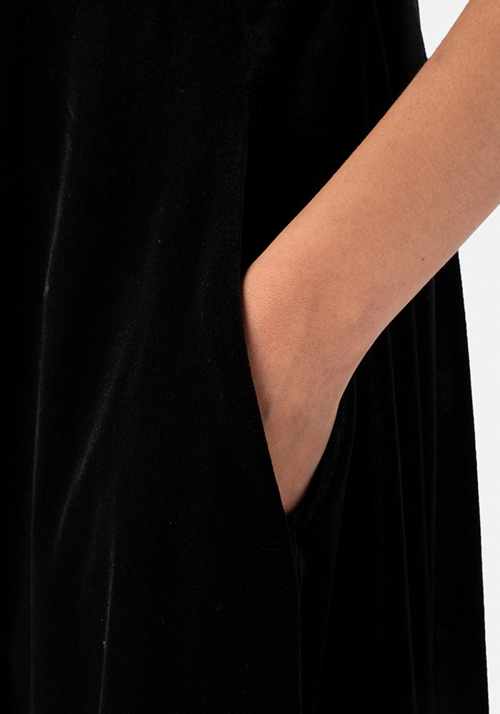 Rayne Black Velvet Dress