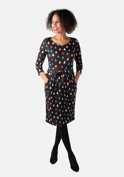 Fern Multi Colour Christmas Tree Dress