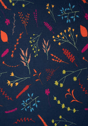 Blanche Navy Autumn Floral Print Dress