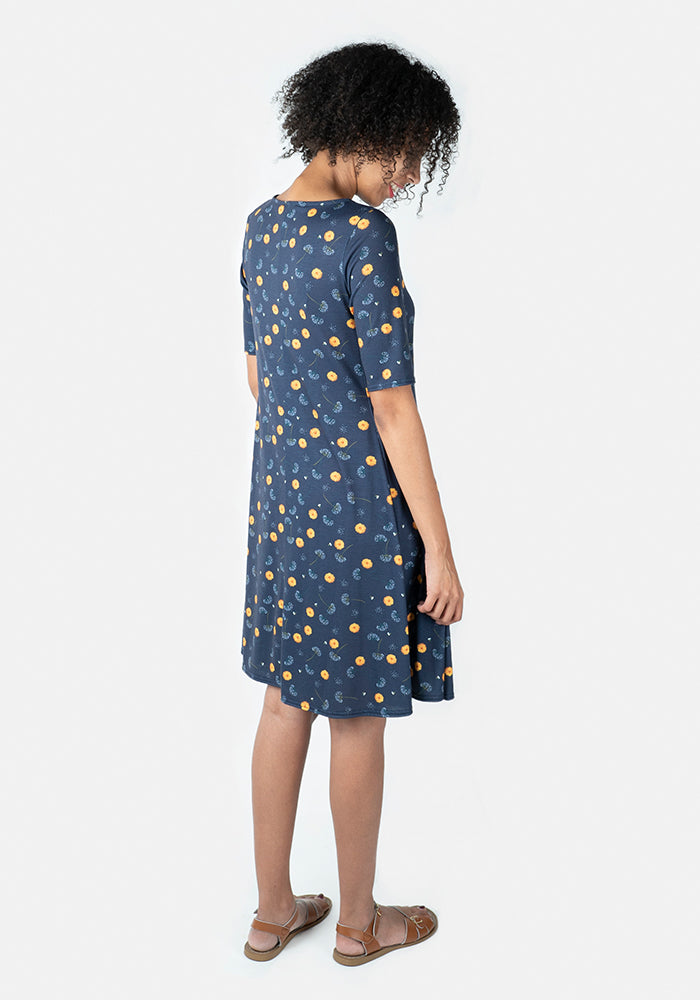 Debbie Dandelion Print Dress