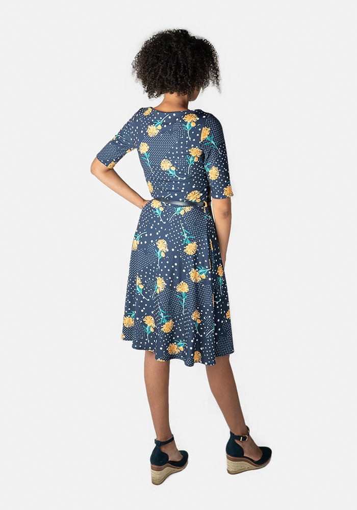 McKenzie Floral & Polka Dot Print Dress