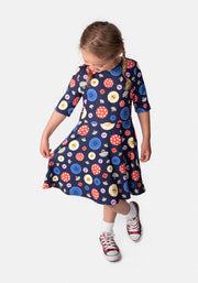 Children's Button Print Dress