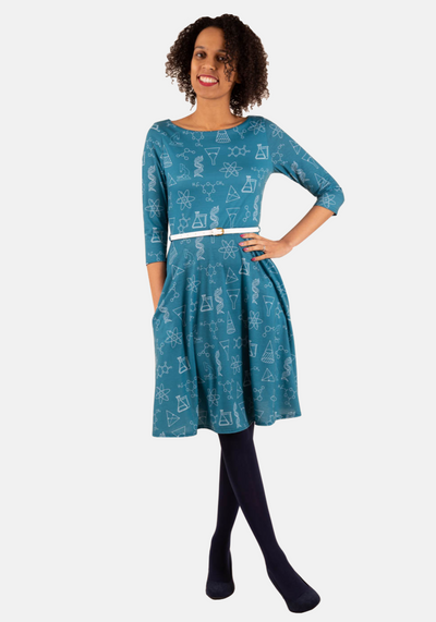 Rosaline Science Print Dress