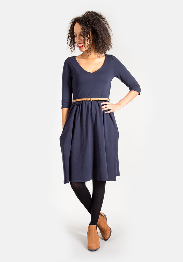 Lorna Navy Dress