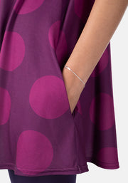 Etta Purple Spot Tunic