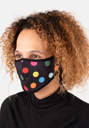 3 Layer Spot Print Reversible Face Cover (Dotty)