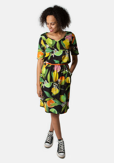 Gina Fruit Print Dress