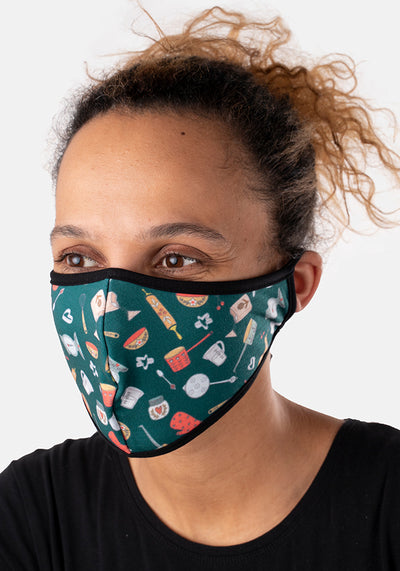 3 Layer Baking Print Reversible Face Cover (Delia)