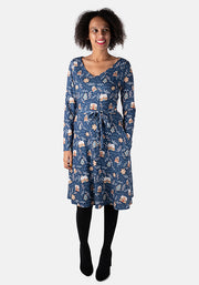 Faith Gingerbread Print Dress